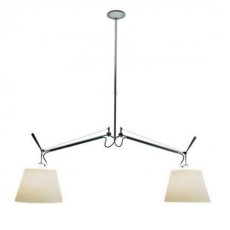 Artemide Tolomeo Basculante Suspension Lamp L130 2 lights parchment