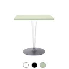 Kartell Table Square Toptop round base Ø 70cm