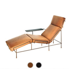Magis Chaise Longue Traffic Leather coated L 155 cm