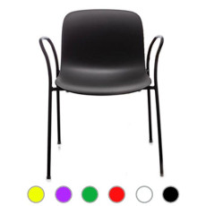 Magis Chairs Troy Polypropylene stackable with armrests H 80 cm L 61 cm, also for outdoor use