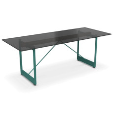 Magis Table Brut L 260cm Smoked Glass