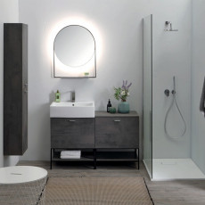 Colavene Volant Composition 120 cm free standing bathroom with sink, cabinet and mirror