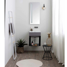 Colavene Volant 45 cm bathroom composition suspended with sink and mirror with LED light