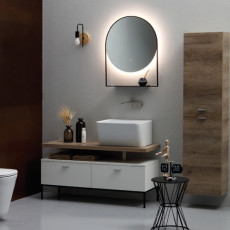 Colavene Wynn Bathroom composition 120 cm from the floor with sink, cabinet and backlit mirror