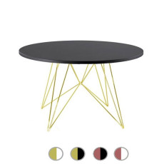 Magis round Table XZ3 Ø 120 cm golden or copper steel structure
