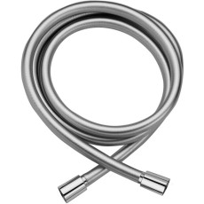 """Paffoni Showers Silver PVC Hose 1/2 """"Gx1 / 2"""" G with Double Conical Cap L. 1500mm"""
