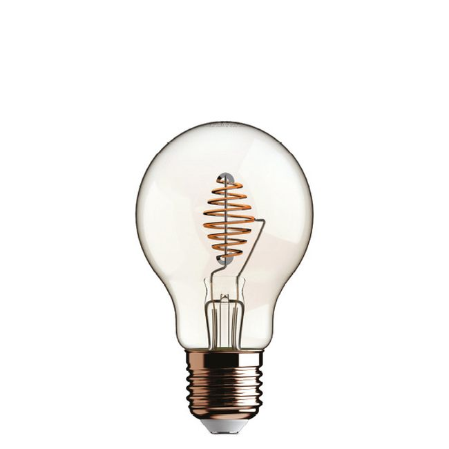 Bulb Beauty Eddy Led Globo 4.5W E27 2700 K 220/240 V 9.5x13.5 cm Transparent Dimmable DLItalia