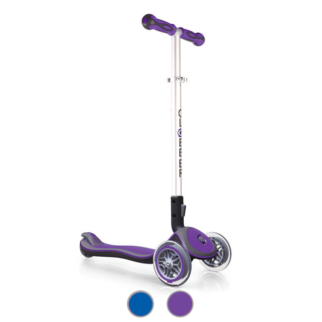 Telescopic and Foldable 3-wheel Scooter Globber Elite SL (solid)