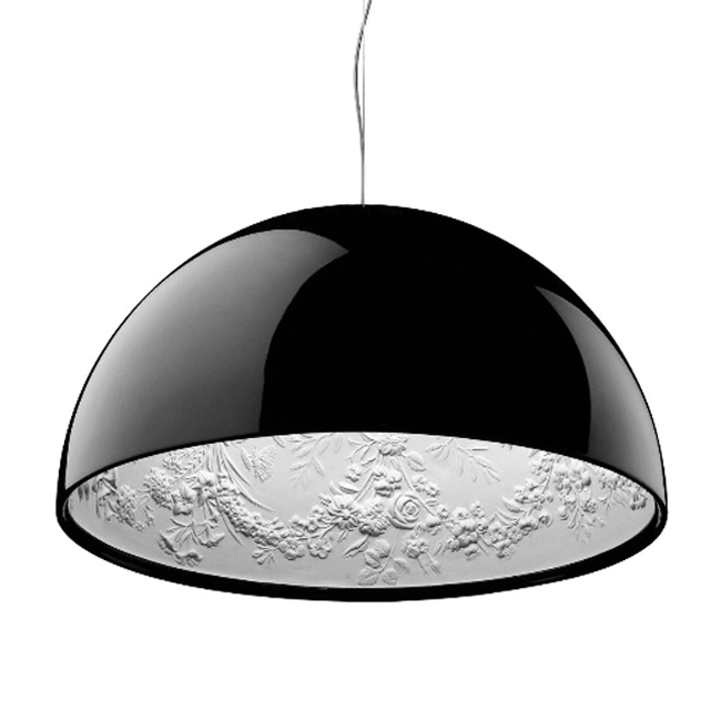 Flos Suspension lamp Skygarden 2 1 Light E27 Ø 90 cm Black