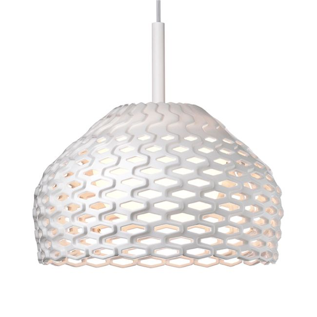 Flos Suspension Lamp Tatou S1 1 Light 23W Ø 28 cm White