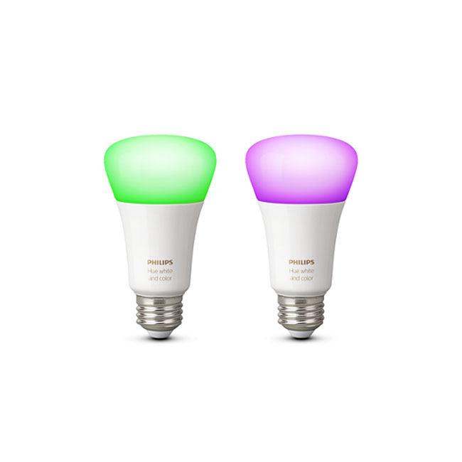 2 x Philips Hue White and Color Ambiance Bulb LED 10W Ø 6,2 cm 4000K