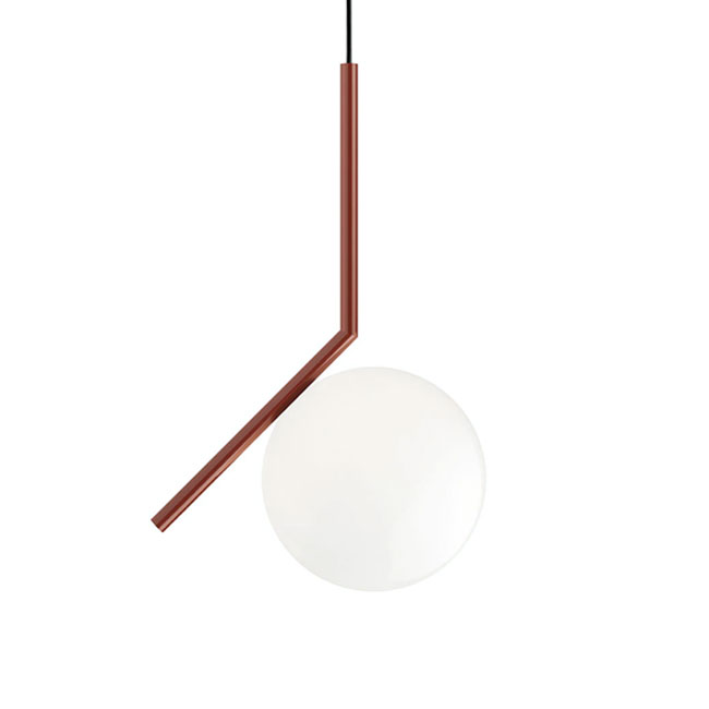 Flos hanging lamp IC S1 1 luce E14 Ø 20 cm red