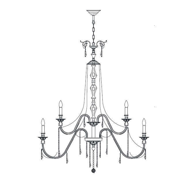 Italamp Chandelier 2291 Ø 90 cm E14 Dimmable