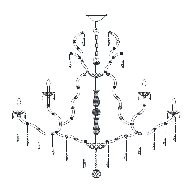 Italamp Chandelier 5102 E14 Dimmable
