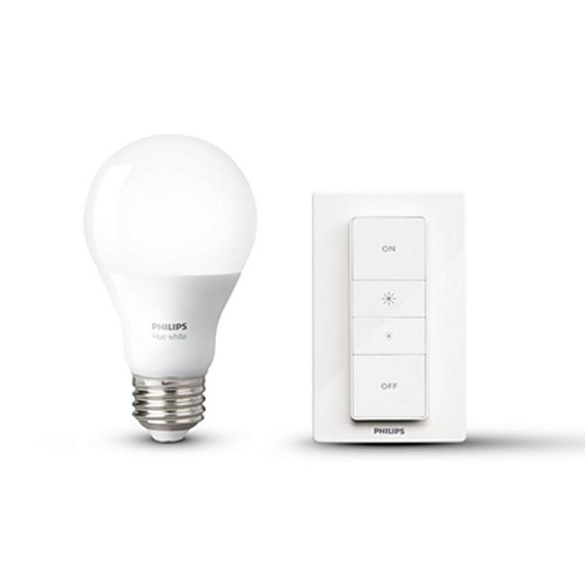 Philips Hue Wireless dimming kit bulb + swatch dimmer E27 9,5W Ø 6,1 cm