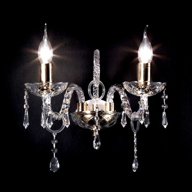 Crystal Wall lamp Maria Teresa T4 Ciciriello 2 Lights E14 L 32 cm
