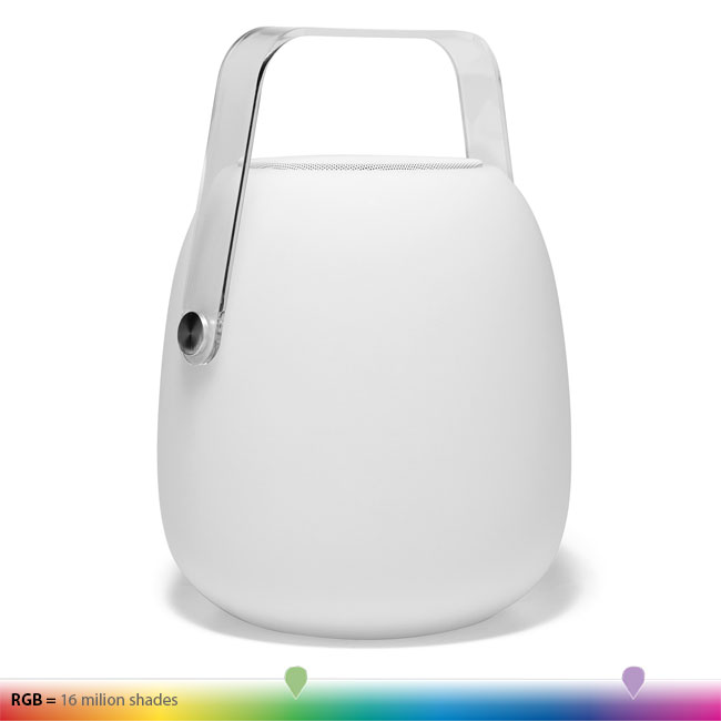 Lamp with rechargeable battery Portable Lumen Center Pic.Sound LED RGB H 30 cm