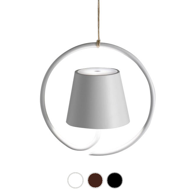 Ai Lati Lights Rechargeable battery-powered Pendant lamp Poldina LED 2.2W IP54 L 19.8 x H 19.8 cm also for the outdoor