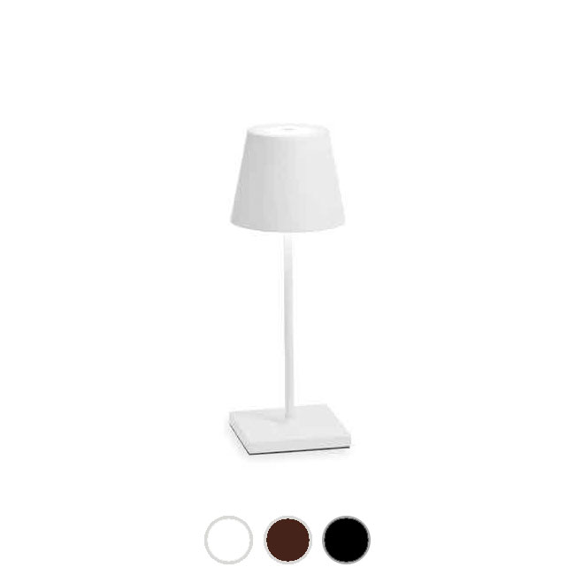 Ai Lati Lights Rechargeable battery-powered table lamp Poldina Pro LED 2.2W IP54 H 38 cm Dimmable For indoor and outdoor use. Contact charging base included