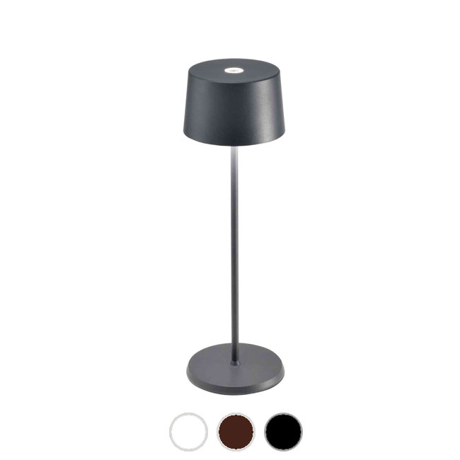 Ai Lati Lights Rechargeable battery-powered table lamp Olivia LED 2.2W IP65 H 35.5 cm Dimmable For indoor and outdoor use