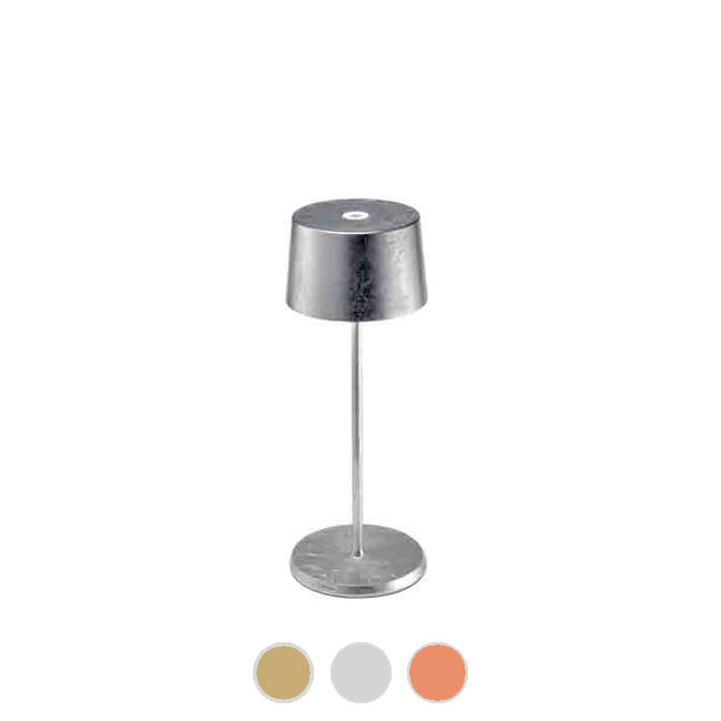 Ai Lati Lights Rechargeable battery-powered table lamp Olivia mini Metal LED 2.2W H 30 cm Dimmable