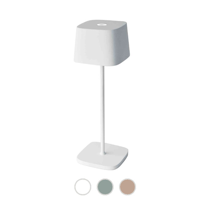 Ai Lati Lights Rechargeable battery-powered table lamp Ofelia LED 2.2W IP65 H 30 cm Dimmable For indoor and outdoor use