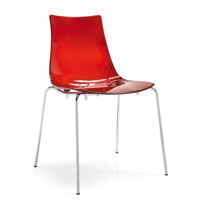 Connubia Calligaris ChairS Led Transparent Plastic Stackable Different Colors