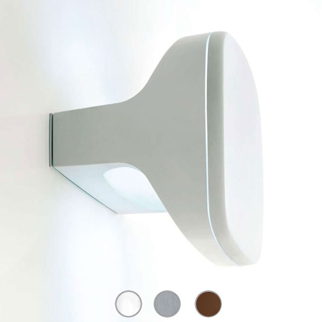 Luceplan Wall / ceiling lamp Sky 2 Lights E14 IP65 L 20 cm Outdoor and Garden