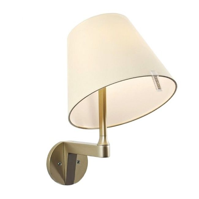 Artemide Melampo Wall lamp with switch 1 luce H 35 cm Bronze