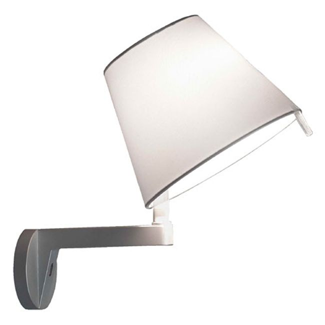 Artemide Melampo Wall lamp without switch 1 luce H 35 cm gray aluminium
