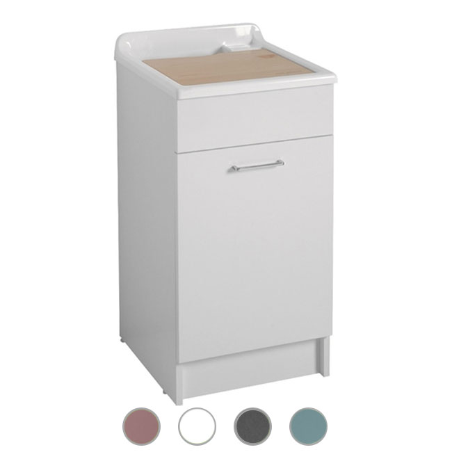 Colavene Jollywash 45x60x86 sink with sliding and removable laundry basket