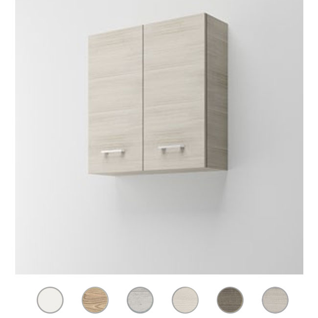 Double wall cabinet Gaia L 68 cm with doors and shelves Savini