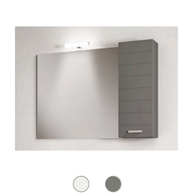 Left wall cabinet Rigo L 25x16 cm for bathroom composition Savini