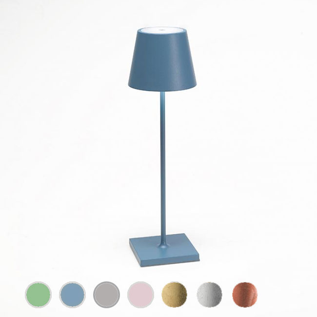 Ai Lati Lights Rechargeable battery-powered table lamp Poldina LED 2.2W IP54 H 38 cm Dimmable also for the outdoor