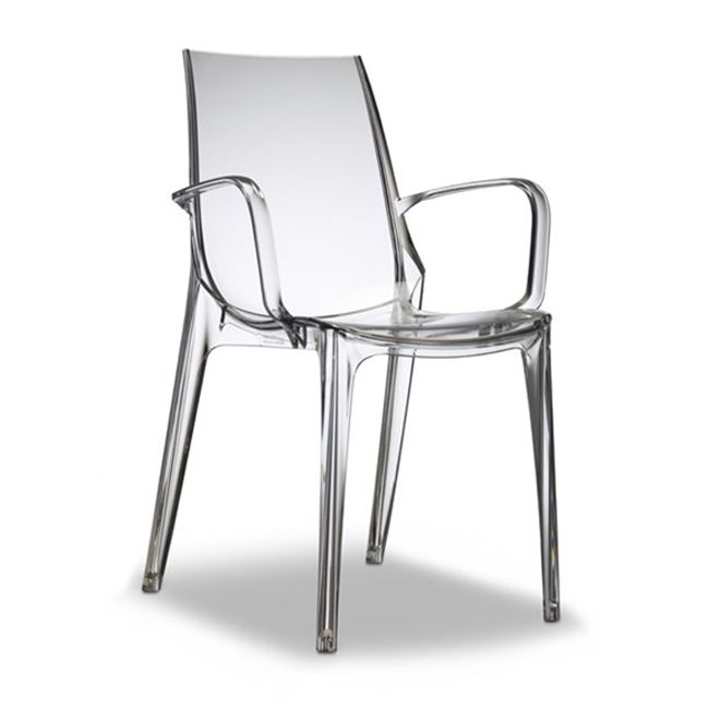 Scab chair with armrests Vanity, various colors, stackable, also for garden