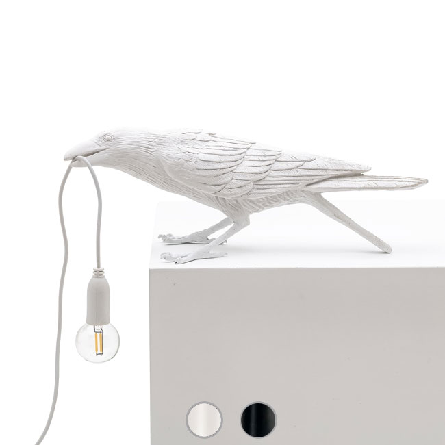 Seletti Table lamp Bird Playing 1 Light E14 L 33,5x11,5 cm