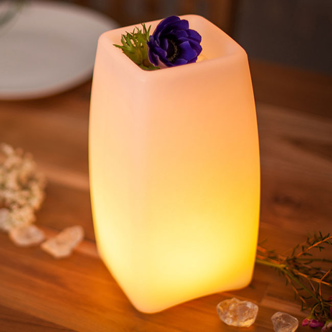 Table Lamp with rechargeable battery Smart & Green Stele LED RGB + WHITE H 23 cm