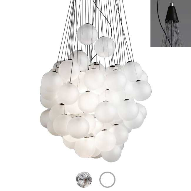 Luceplan Pendant lamp Stochastic LED 25W Ø 40 cm Dimmable