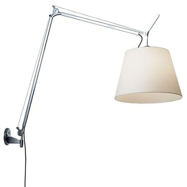 Artemide floor lamp Tolomeo Mega LED +  Support wall with cord dimmer 31W 1500lm 3000K Vari Colori
