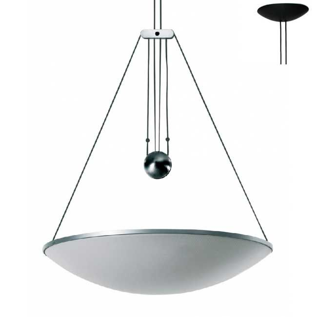 Luceplan Suspension lamp with Counterweight Trama 1 Light R7s Ø 64 cm