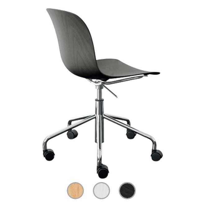 Magis Chair Troy Plywood Rotating on 5 wheels with armrests H 77,5/85,5 cm L 63 cm