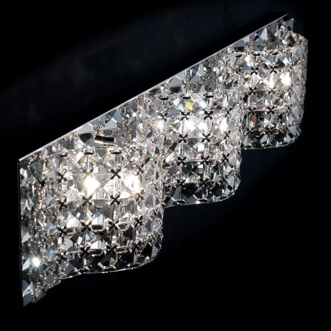 Ciciriello Applique Cristallo Vigo Clear L 65 cm 3 Luci